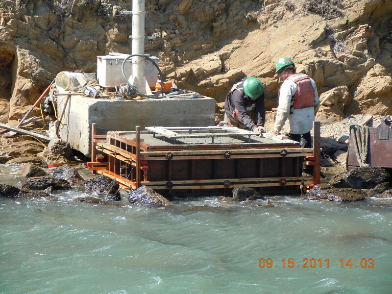 Examples of marine construction concrete services and repair.